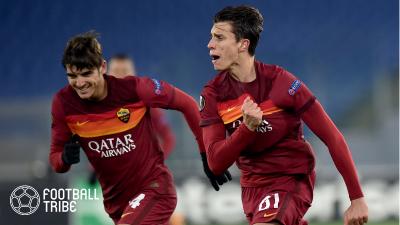 ローマ、18歳カラフィオーリと新契約締結!ELで公式戦初ゴールをマークした逸材