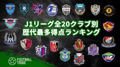 【2021】J1リーグ全20クラブ別、歴代最多得点ランキング