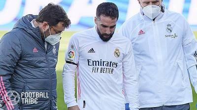 レアルDFカルバハルが今季5度目の離脱…右足負傷で全治最低3週間