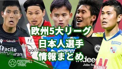 欧州5大リーグの日本人選手情報まとめ。契約期間、年俸、試合データ、移籍先候補【2020/21】