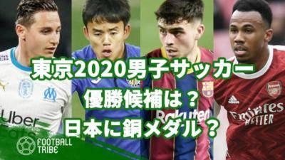 東京2020男子サッカーを分析予測。優勝候補は?日本に銅メダルの可能性あり?