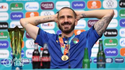 ユーロ優勝のイタリア代表、ボヌッチが公式ドリンクスポンサーへ粋な計らい!