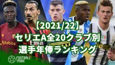 【2021/22】セリエA全20クラブ別、選手年俸ランキング
