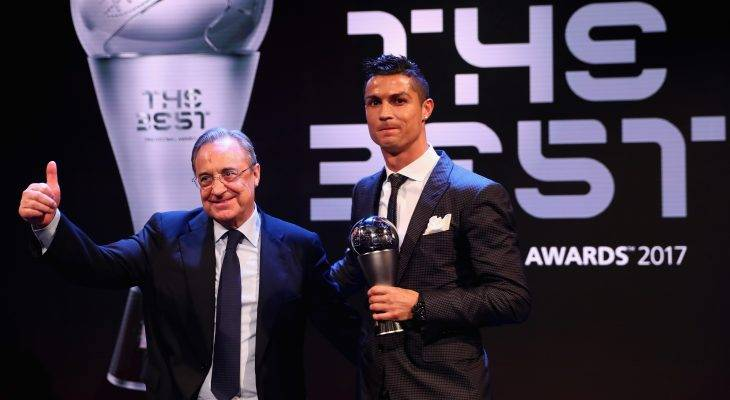 호날두, 2017년 FIFA 올해의 선수상 수상