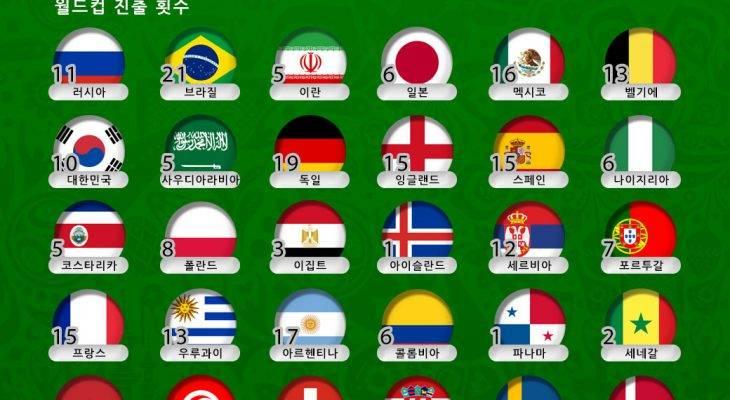 [카드 뉴스] 2018 러시아 월드컵 32개국의 별칭을 알아보자 (下)