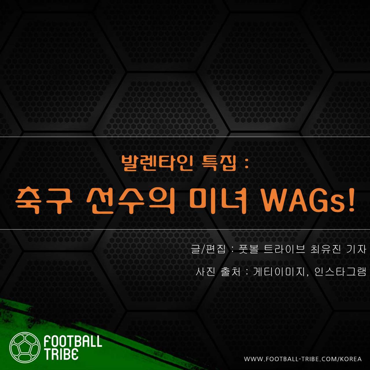 [발렌타인데이 특집] 축구 선수의 미녀 WAGs!