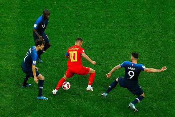 1골, 7회 드리블 성공, 77% 패스 성공률 기록한 벨기에 캡틴 아자르, 자국  최초 3위 이끌어