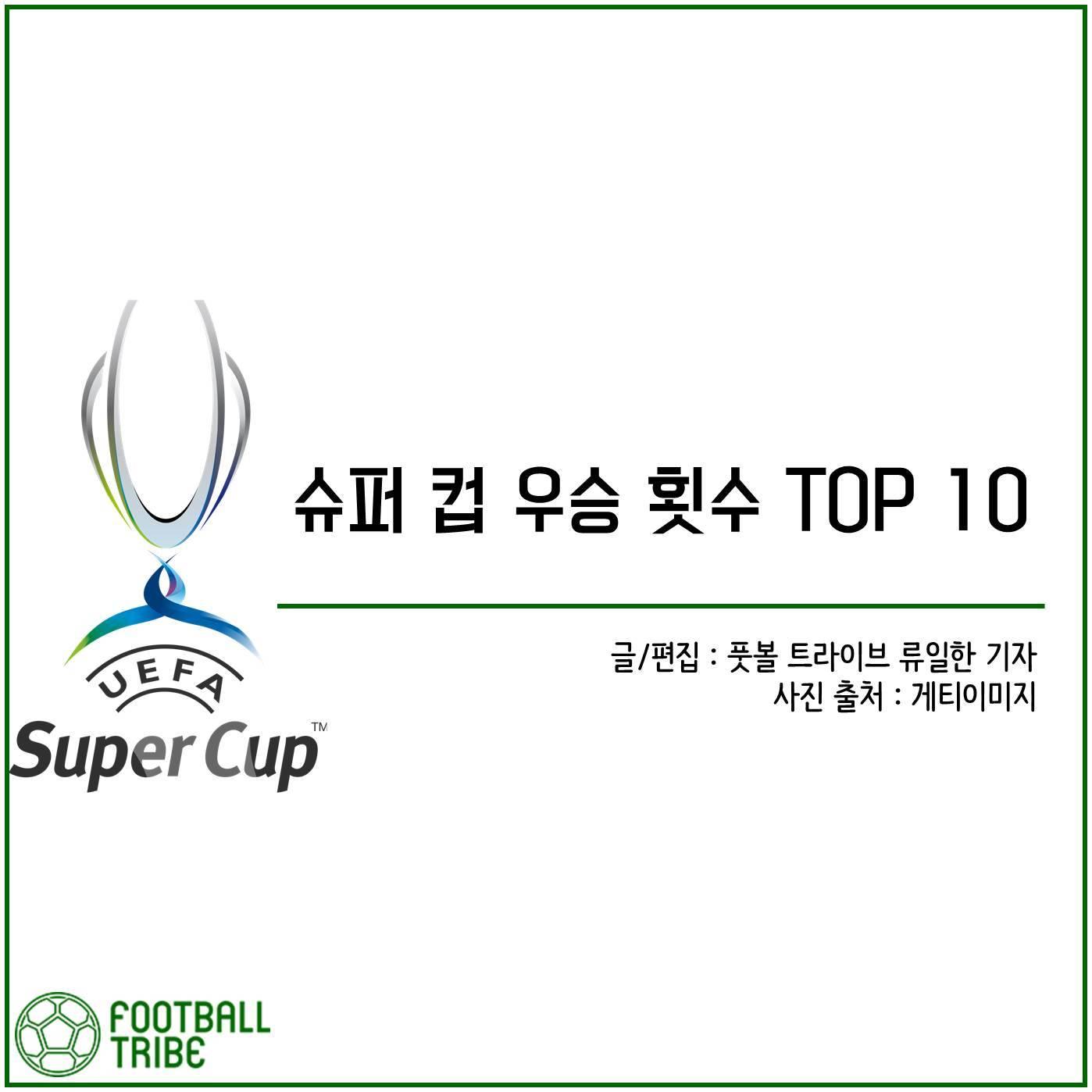 [카드 뉴스] 슈퍼 컵 우승 횟수 TOP 10
