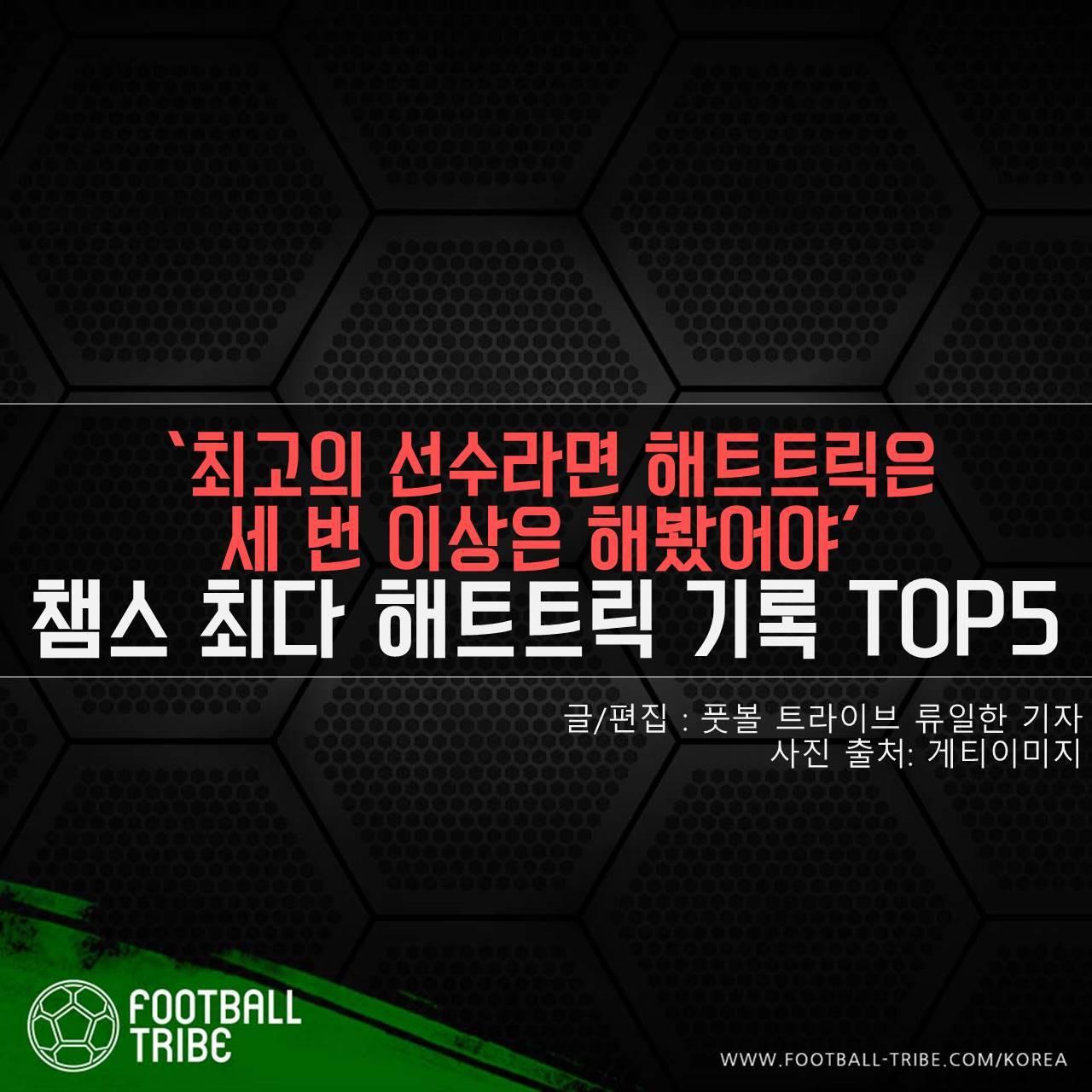 [카드 뉴스] '최고의 선수라면 해트트릭은세 번 이상은 해봤어야' 챔스 최다 해트트릭 기록 TOP5