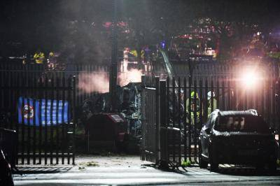 레스터 구단주 소유 헬기, 홈구장 주차장에 추락