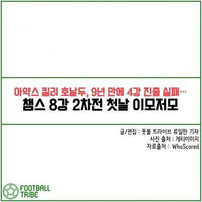 [카드 뉴스] 챔스 8강 2차전 첫날 이모저모