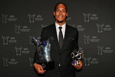 반 다이크, 수비수로는 역대 최초로 UEFA 올해의 선수 상 차지