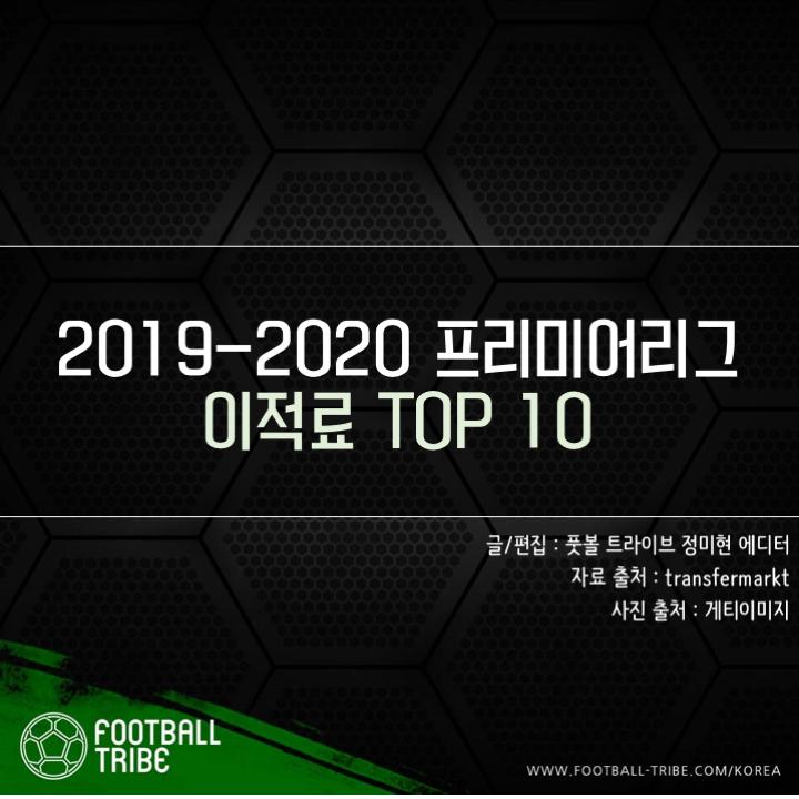 [카드 뉴스] 2019-2020 프리미어리그 이적료 TOP 10