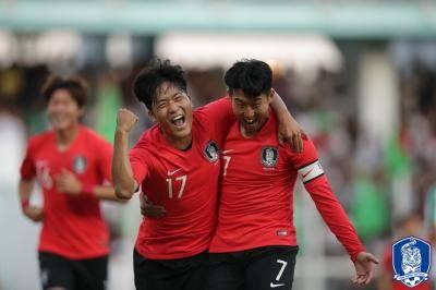 나상호, A매치 데뷔 골…대표팀은 승리