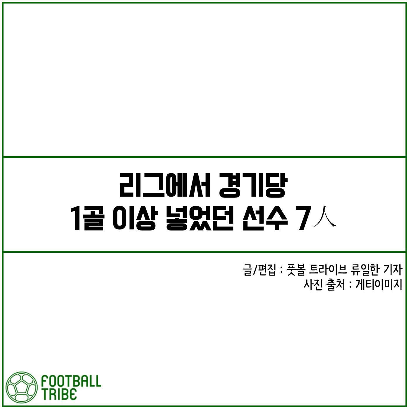 [카드 뉴스] 리그에서 경기당 1골 이상 넣었던 선수 7人