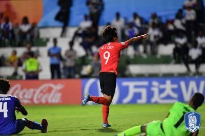 [U-17 월드컵] 대한민국, 수적 열세에도 아이티 격파