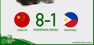 Perlawanan persahabatan : China belasah Filipina 8-1 (VIDEO)