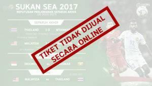 Tiket Final Bola Sepak Tidak Dijual Secara Online