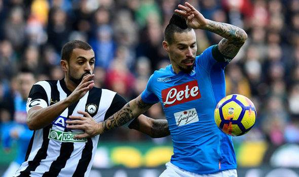 Live Streaming Serie A (2/12/2017): Napoli vs Juventus