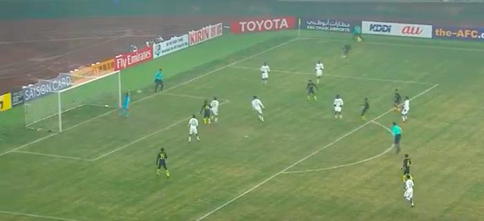 VIDEO: Daniel Amier meledak untuk memberi Malaysia kelebihan 1-0 menentang Arab Saudi