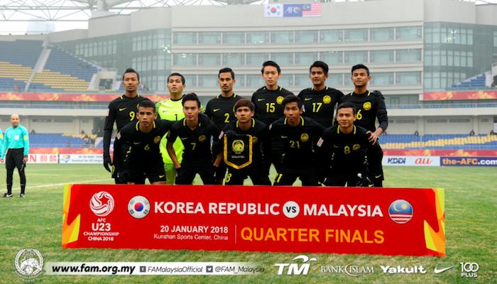 Piala AFC B-23: Malaysia tewas bermaruah di tangan Korea Selatan