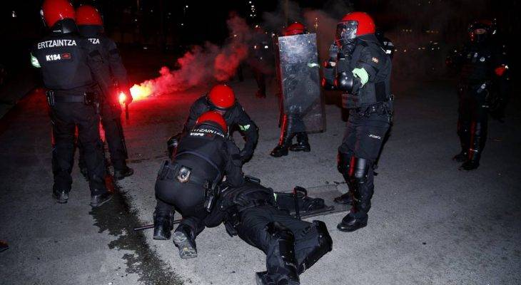 Pegawai polis terbunuh ekoran pergaduhan antara penyokong Bilbao dan Spartak Moscow