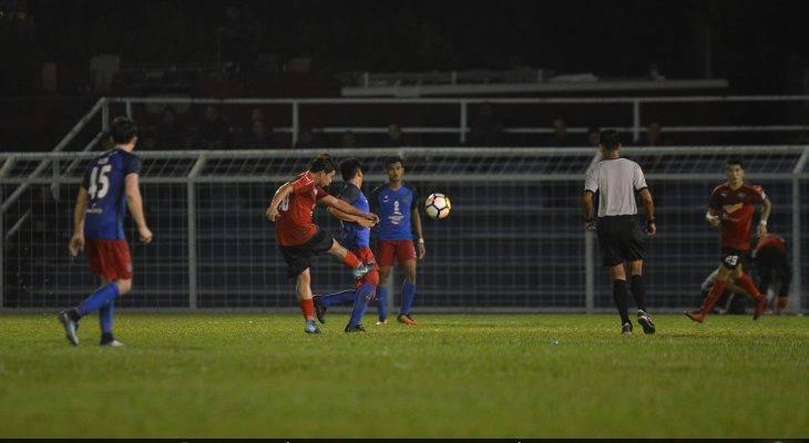 Gol cantik yang dijaringkan oleh Areff Kamaruddin untuk membantu UiTM mengikat JDT II