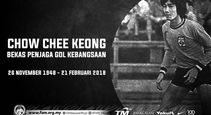 Bekas penjaga gol kebangsaan, Chow Chee Keong meninggal dunia