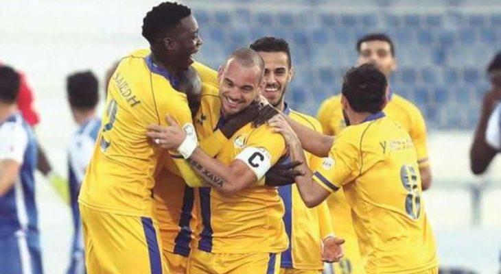 Bintang Belanda Wesley Sneijder kini menjadi mesin gol di Al-Gharafa
