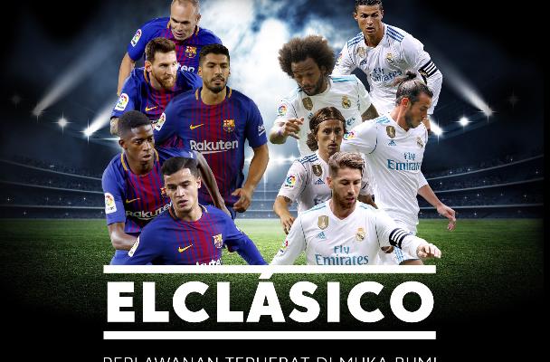 Daftar, Share dan Menang! Ini peluang anda untuk menyaksikan El Clasico di Sepanyol