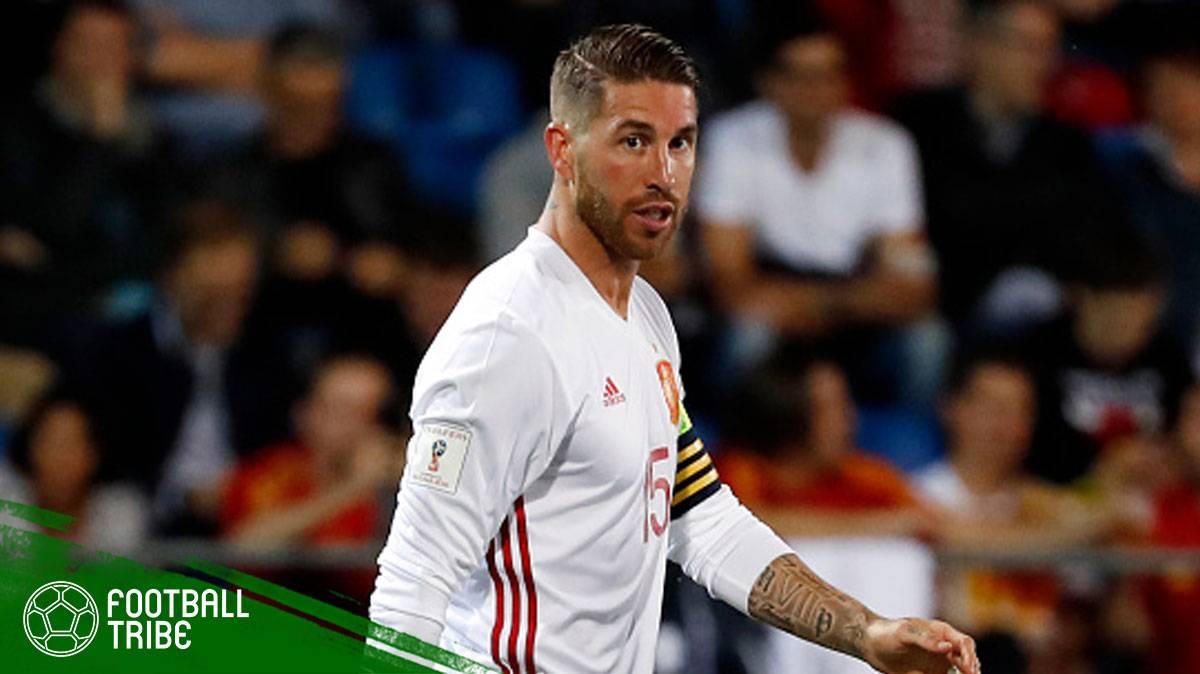 Sergio Ramos menyampaikan mesej pasca perlawanan kepada rakan sepasukannya di Real Madrid
