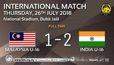 Malaysia B-16 tewas kepada India, Teong Kim salahkan kesilapan pemain