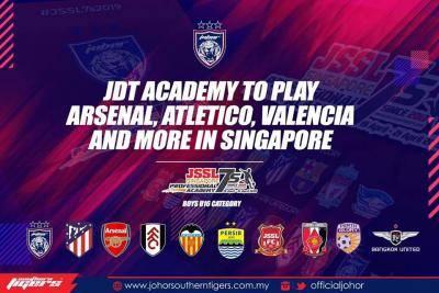 Akademi JDT bakal bertemu Arsenal, Atletico Madrid dan Valencia