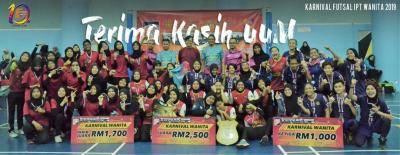 UM muncul juara Futsal Wanita IPT 2019