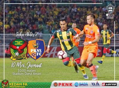 Shopee Piala FA : Kedah 'dahaga' kemenangan ke atas PKNS FC