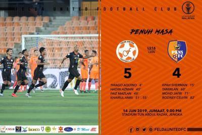 Liga Super : Felda United 'berpeluh' atasi PKNS FC