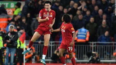 [VIDEO] Liverpool's Curtis Jones battled through illness before scoring first senior goal against Everton