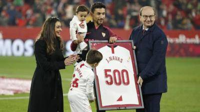 Jesus Navas reaches his 500th appearance for Sevilla
