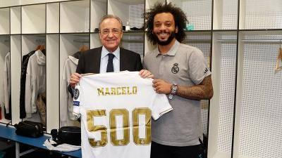 Marcelo marks 500th appearance for Real Madrid