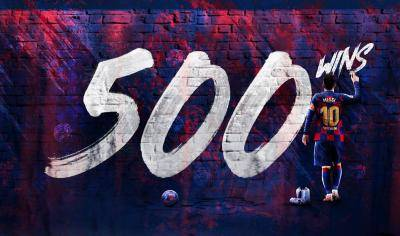 Lionel Messi marks 500th victories with Barcelona