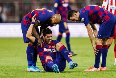 Luis Suarez ruled out up to 3 months due to knee injury