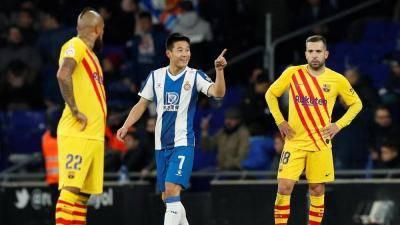 Barcelona stunned by Wu Lei equaliser