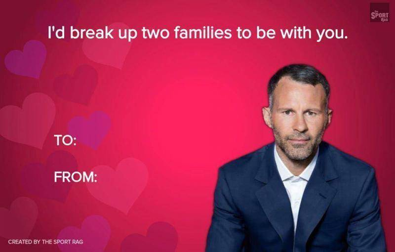 Send a Valentine's Day card using this footballer's pick up lines