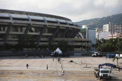 Maracana, home of Brazilian football now a field hospital