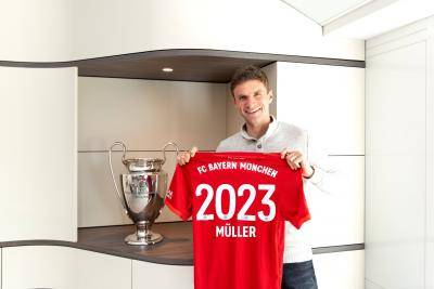 [VIDEO] Thomas Muller extend Bayern contract until 2023