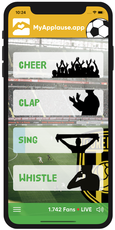 Now a 'crowd simulation app' for fans to cheer from own homes