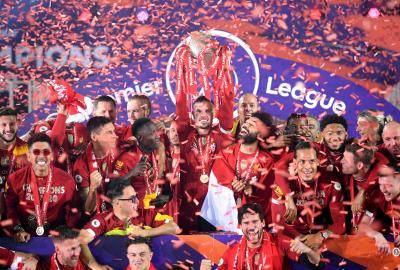 [VIDEO] Liverpool finally lift Premier League trophy for the first time