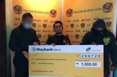 Ultras Kedah bagi sumbangan kepada pasukan Kedah