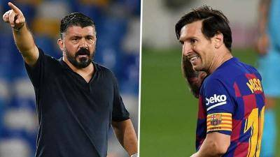 'I can only mark Messi in my dreams or on my son's PlayStation!' says Gattuso as he prepares Napoli for Barca clash