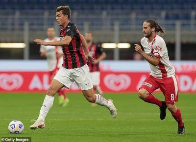 Daniel Maldini, 18-year-old son of club legend Paolo, scores his first senior goal for AC Milan in friendly win over Monza
